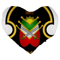 Shield Of The Imperial Iranian Ground Force Large 19  Premium Heart Shape Cushions