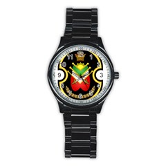Shield Of The Imperial Iranian Ground Force Stainless Steel Round Watch