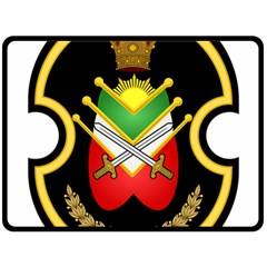 Shield Of The Imperial Iranian Ground Force Double Sided Fleece Blanket (large)