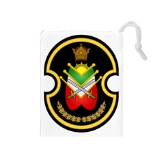 Shield Of The Imperial Iranian Ground Force Drawstring Pouches (medium)