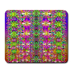 Flower Wall With Wonderful Colors And Bloom Large Mousepads