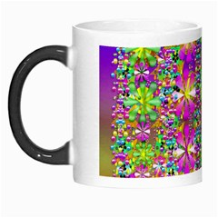 Flower Wall With Wonderful Colors And Bloom Morph Mugs