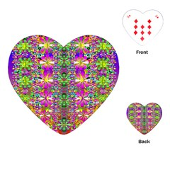 Flower Wall With Wonderful Colors And Bloom Playing Cards (heart)