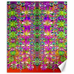 Flower Wall With Wonderful Colors And Bloom Canvas 8  X 10