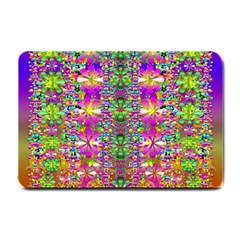 Flower Wall With Wonderful Colors And Bloom Small Doormat