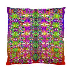 Flower Wall With Wonderful Colors And Bloom Standard Cushion Case (two Sides)