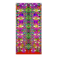Flower Wall With Wonderful Colors And Bloom Shower Curtain 36  X 72  (stall)