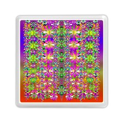 Flower Wall With Wonderful Colors And Bloom Memory Card Reader (square)