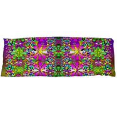Flower Wall With Wonderful Colors And Bloom Body Pillow Case Dakimakura (two Sides)