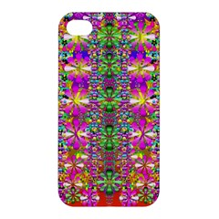 Flower Wall With Wonderful Colors And Bloom Apple Iphone 4/4s Premium Hardshell Case