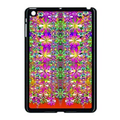 Flower Wall With Wonderful Colors And Bloom Apple Ipad Mini Case (black)