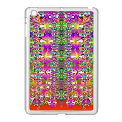 Flower Wall With Wonderful Colors And Bloom Apple Ipad Mini Case (white)