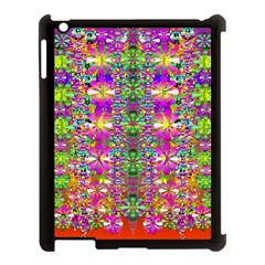 Flower Wall With Wonderful Colors And Bloom Apple Ipad 3/4 Case (black)