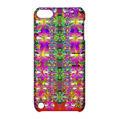 Flower Wall With Wonderful Colors And Bloom Apple Ipod Touch 5 Hardshell Case With Stand