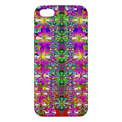 Flower Wall With Wonderful Colors And Bloom Apple Iphone 5 Premium Hardshell Case