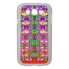 Flower Wall With Wonderful Colors And Bloom Samsung Galaxy Grand Duos I9082 Case (white)