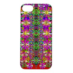 Flower Wall With Wonderful Colors And Bloom Apple Iphone 5s/ Se Hardshell Case