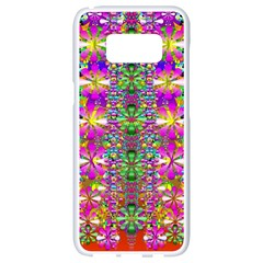 Flower Wall With Wonderful Colors And Bloom Samsung Galaxy S8 White Seamless Case