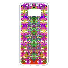 Flower Wall With Wonderful Colors And Bloom Samsung Galaxy S8 Plus White Seamless Case
