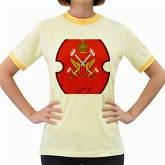 Seal Of The Imperial Iranian Army Aviation  Women s Fitted Ringer T Shirts