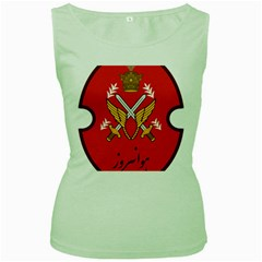 Seal Of The Imperial Iranian Army Aviation  Women s Green Tank Top