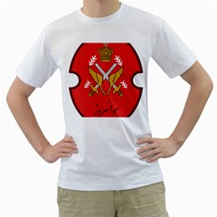 Seal Of The Imperial Iranian Army Aviation  Men s T Shirt (white) (two Sided)