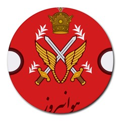 Seal Of The Imperial Iranian Army Aviation  Round Mousepads