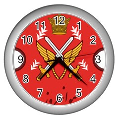 Seal Of The Imperial Iranian Army Aviation  Wall Clocks (silver)