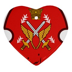 Seal Of The Imperial Iranian Army Aviation  Ornament (heart)