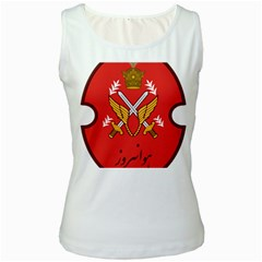 Seal Of The Imperial Iranian Army Aviation  Women s White Tank Top