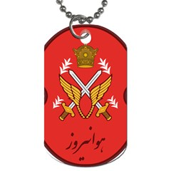 Seal Of The Imperial Iranian Army Aviation  Dog Tag (one Side)