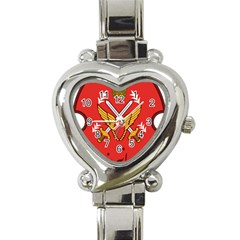 Seal Of The Imperial Iranian Army Aviation  Heart Italian Charm Watch