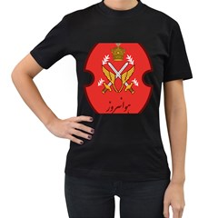 Seal Of The Imperial Iranian Army Aviation  Women s T Shirt (black) (two Sided)