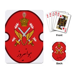 Seal Of The Imperial Iranian Army Aviation  Playing Card