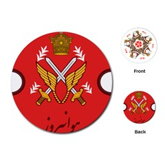 Seal Of The Imperial Iranian Army Aviation  Playing Cards (round)