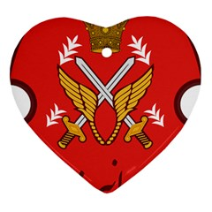 Seal Of The Imperial Iranian Army Aviation  Heart Ornament (two Sides)