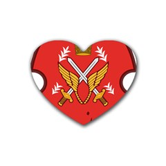 Seal Of The Imperial Iranian Army Aviation  Rubber Coaster (heart)