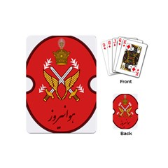 Seal Of The Imperial Iranian Army Aviation  Playing Cards (mini)