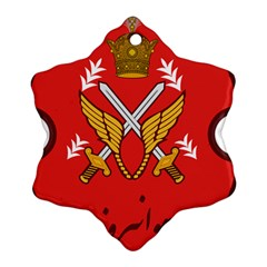 Seal Of The Imperial Iranian Army Aviation  Snowflake Ornament (two Sides)