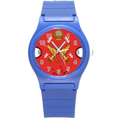 Seal Of The Imperial Iranian Army Aviation  Round Plastic Sport Watch (s)