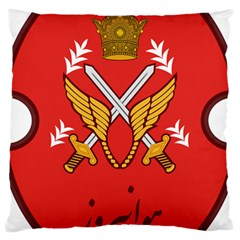 Seal Of The Imperial Iranian Army Aviation  Large Cushion Case (one Side)