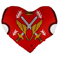 Seal Of The Imperial Iranian Army Aviation  Large 19  Premium Heart Shape Cushions