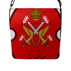 Seal Of The Imperial Iranian Army Aviation  Flap Messenger Bag (l)