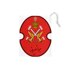 Seal Of The Imperial Iranian Army Aviation  Drawstring Pouches (small)
