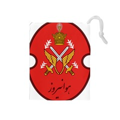 Seal Of The Imperial Iranian Army Aviation  Drawstring Pouches (medium)