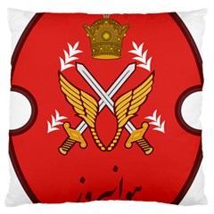 Seal Of The Imperial Iranian Army Aviation  Large Flano Cushion Case (two Sides)