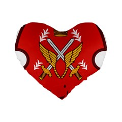 Seal Of The Imperial Iranian Army Aviation  Standard 16  Premium Flano Heart Shape Cushions