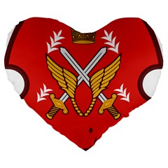 Seal Of The Imperial Iranian Army Aviation  Large 19  Premium Flano Heart Shape Cushions