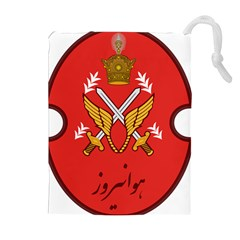 Seal Of The Imperial Iranian Army Aviation  Drawstring Pouches (extra Large)