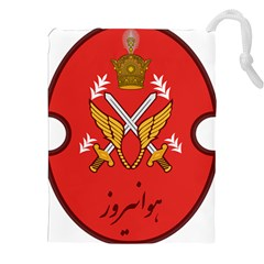 Seal Of The Imperial Iranian Army Aviation  Drawstring Pouches (xxl)